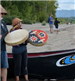 Man and Woman Playing Chinook Drums