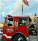 Fire Truck with American Flag