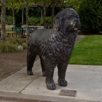Large dog sculpture